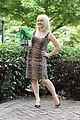 Audrey Little Shop of Horrors Leopard Dress Cosplay for Dragon Con 2015 with Baby Audrey II (21299757092).jpg