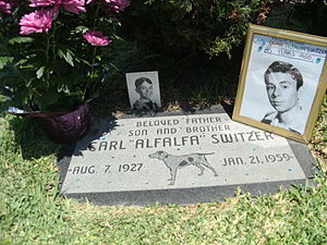 Carl Switzer - Grave of Carl Switzer on August 7, 2012, the 85th anniversary of his birth.