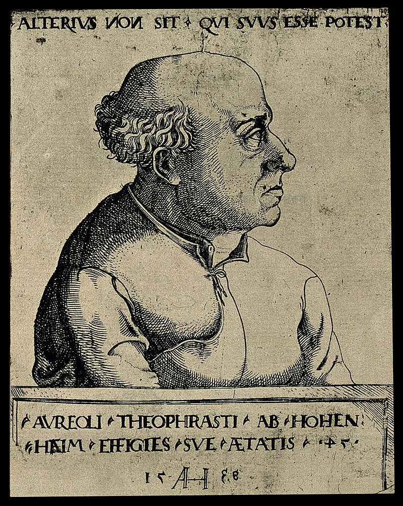 Aureolus Theophrastus Bombastus von Hohenheim (Paracelsus). Wellcome V0004455.jpg