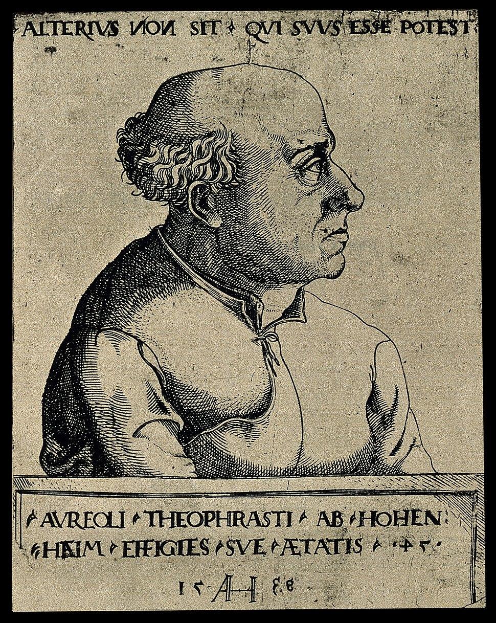 Aureolus Theophrastus Bombastus von Hohenheim (Paracelsus). Wellcome V0004455
