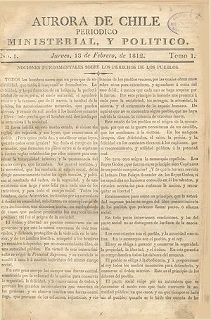 Aurora de Chile - First issue of the Aurora de Chile