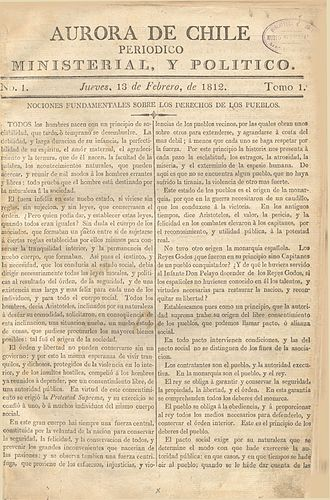 Biblioteca Nacional de Chile - The Aurora de Chile, Chile's first newspaper, is kept at the Biblioteca Nacional.