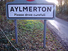 Aylmerton Village Sign 3,12,2006.JPG