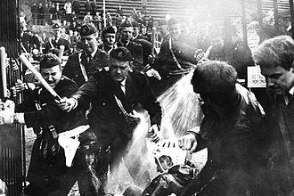 The White Game - Image: Båstads riots 1968 2