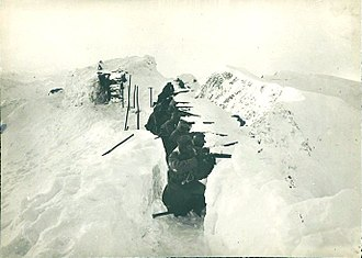Ortler Alps - Highest trench in history near the Ortler's peak, 1917