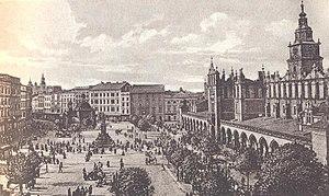 Main Square, Kraków - The market square in the 1930s