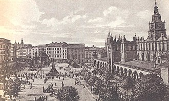 Main Square, Kraków - The market square in the 1930s