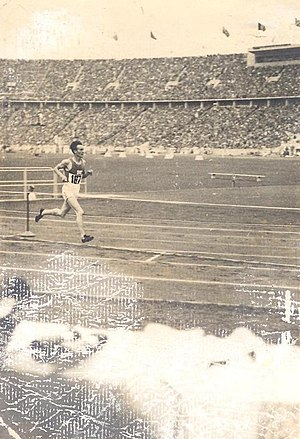 Athletics at the 1936 Summer Olympics - Volmari Iso-Hollo, 3000 m steeplechase, 1936 Summer Olympics