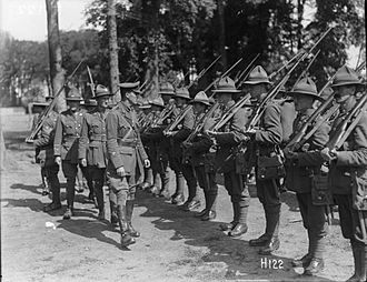 New Zealand Army - New Zealand soldiers in France during 1917