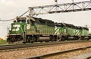 EMD GP50 diesel-electric freight locomotives of the Burlington Northern Railroad