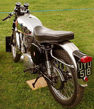 BSA Gold Star - Image: BSA Gold Star Clubmans three quarter rear