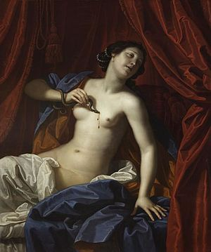 1686 in art - Gennari – Death of Cleopatra, Victoria Art Gallery