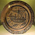 Bacino ceramico con nave, 1175-1225 ca, da mus. s.matteo pisa, già in s. michele degli scalzi.JPG