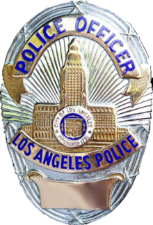 Badge of a Los Angeles Police Department officer.png