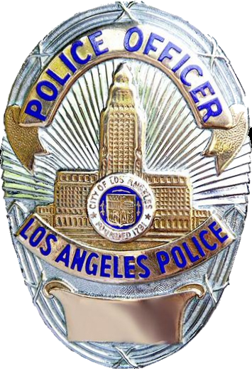 Badge of a Los Angeles Police Department officer