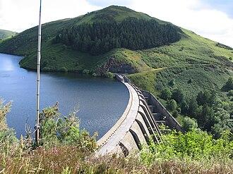 Llanidloes - The Clywedog Dam on the Llyn Clywedog