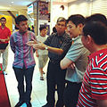 Baey Yam Keng, Yaacob Ibrahim and Lawrence Wong at the launch of the Bras Basah Trail, Singapore - 20120804.jpg