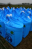 Bags of Fertiliser - geograph.org.uk - 783721