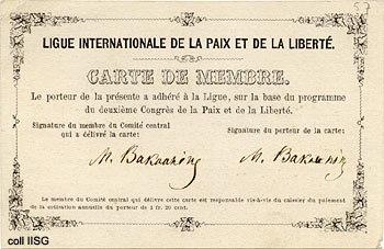 Bakunin Membership Card