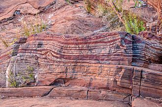 Siderian - A Siderian banded iron formation in Dales Gorge, Western Australia