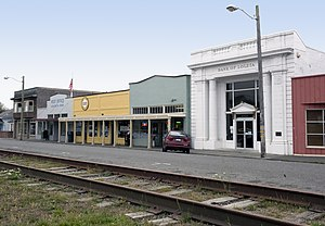 Loleta, California - Loleta's Main Street on south side of rail tracks