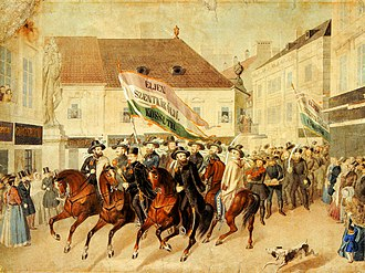 Hungarian Revolution of 1848 - A parliamentary election campaign of a candidate
