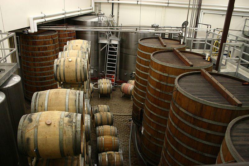 File:Barrel fermentation tanks at Sterling Winery.jpg