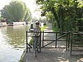 Barrier to allow cycle access on canal towpath - geograph.org.uk - 2389250.jpg
