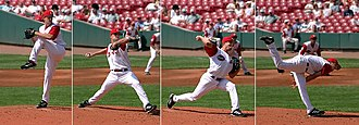 Work (physics) - Image: Baseball pitching motion 2004
