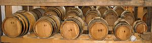 Traditional Balsamic Vinegar - A possible configuration of the barrel set