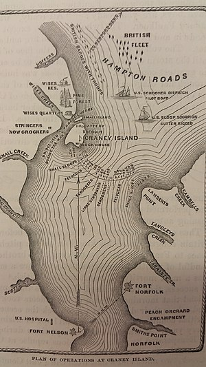 Battle of Craney Island - Image: Battle of Craney Island