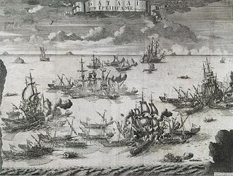 Battle of Grengam - The Battle of Grengam, July 27, 1720. A 1721 etching by Alexey Zubov.