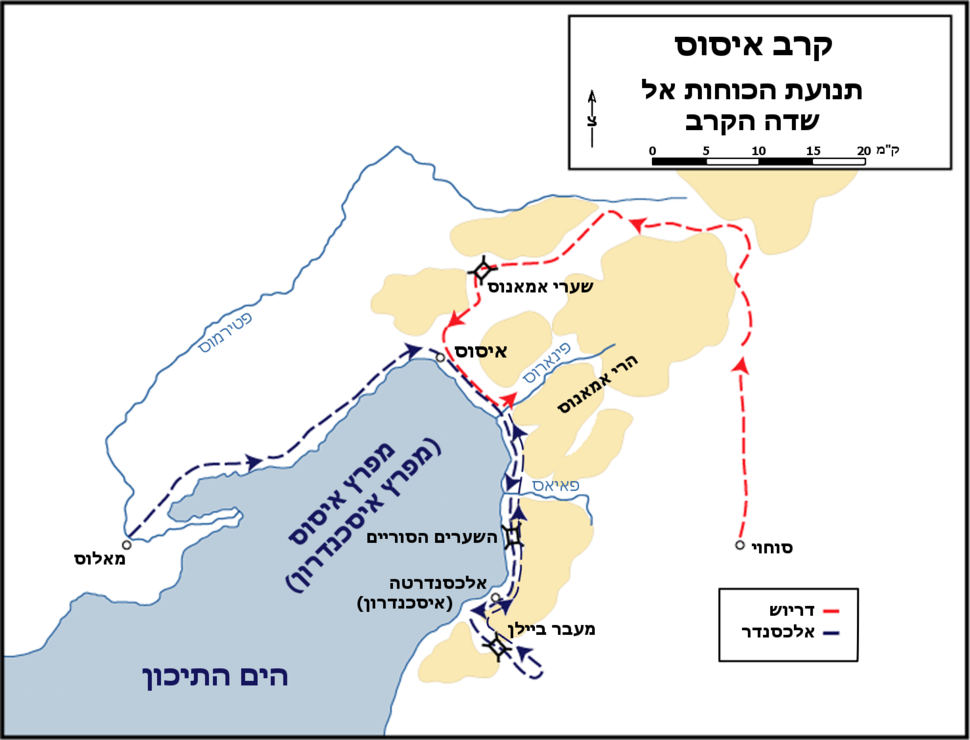 Battle of issus movements hebrew