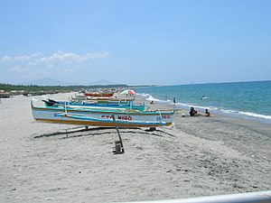 San Felipe, Zambales - Image: Beach at San Felipe Zamabales
