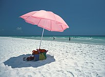 Beach of Seaside in Walton County in Florida Panhandle.JPG