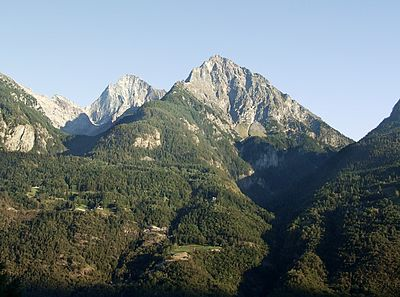 Becca di Nona south of Aosta, the site of a supposed mystical vision during Anselm's childhood Becca di Nona.jpg