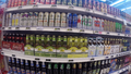 Beer and cider for sale in supermarket.png