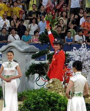 Beezie Madden - Madden on the medals stand in 2008.