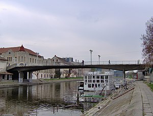 Begej River in Zrenjanin