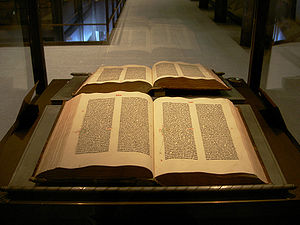 An original Gutenberg Bible