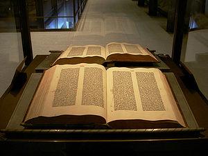 An original Gutenberg Bible