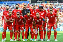 64ed7b8f8 Tunisia national team at the 2018 FIFA World Cup in Russia.