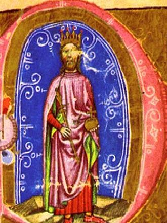 Stephen V of Hungary - Stephen's father, King Béla IV of Hungary (from the Illuminated Chronicle)
