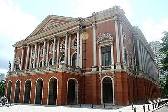 Theatro da Paz - The front façade