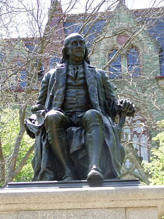 Benjamin Franklin (Boyle) - Image: Ben Franklin sculpture (University of Pennsylvania)