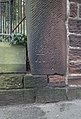 Benchmark at boundary fence of Woolton Manor.jpg