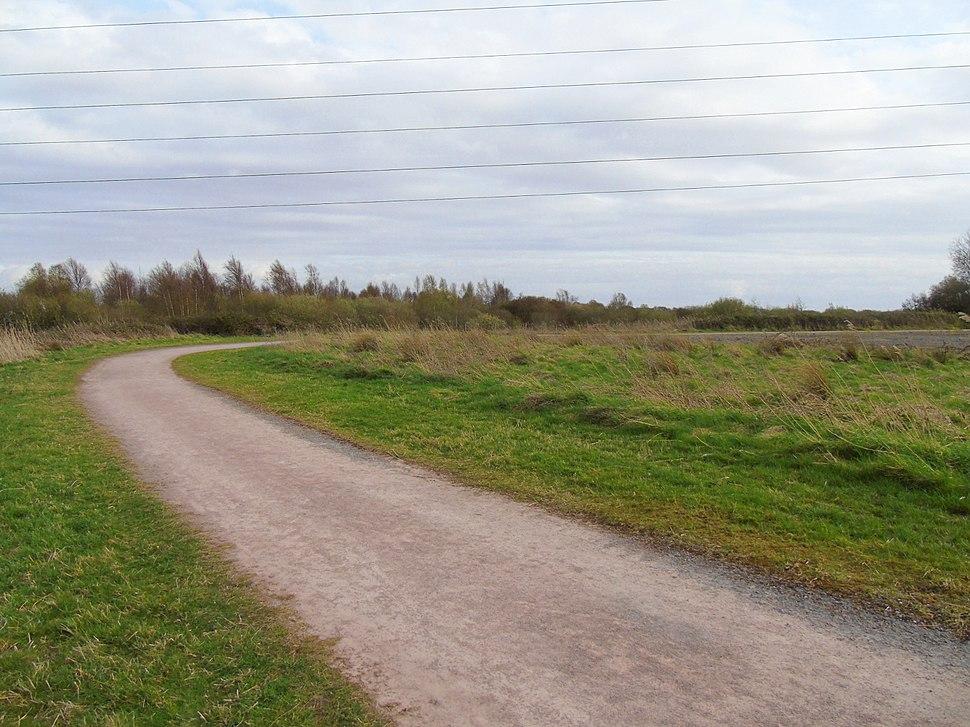 Bend at Woodland Trail of Newport Wetlands RSPB Reserve