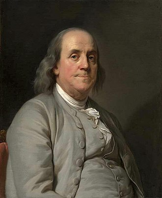 Self-made man - Benjamin Franklin. c. 1785. Oil by Duplessis