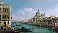 Bernardo Bellotto (Italian - View of the Grand Canal and the Dogana - Google Art ProjectFXD.jpg