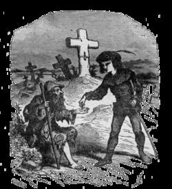 Bertall ill Le Compagnon de voyage Jean et mendiant